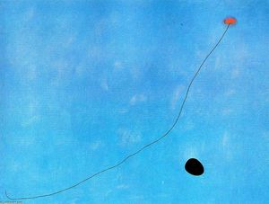 Ordinare Copia Pittura : blu III, 1961 di Joan Miro (1893-1937, Spain) | WahooArt.com