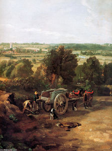 John Constable - Valle Stour e villaggio Dedham
