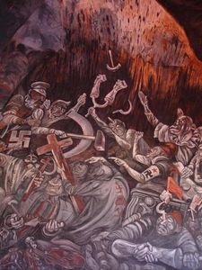 Jose Clemente Orozco - I Clowns of War Litigare in Hell
