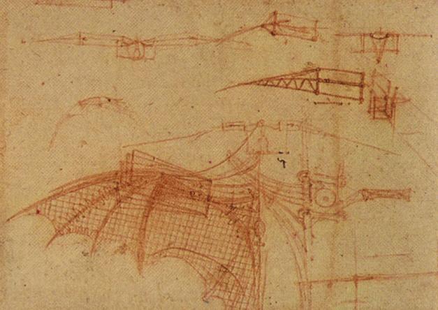 Design per una macchina volante 1505 di leonardo da vinci for Riproduzioni design