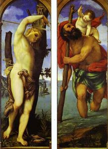 Lorenzo Lotto - Ali of un trittico : S . Sebastian , S . Christopher