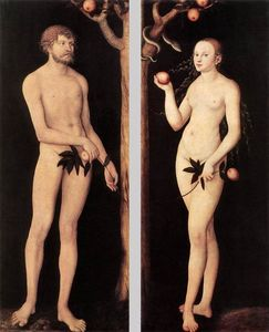 Lucas Cranach The Elder - Adam e Eve