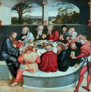 Lucas Cranach The Elder - L ultima Cena
