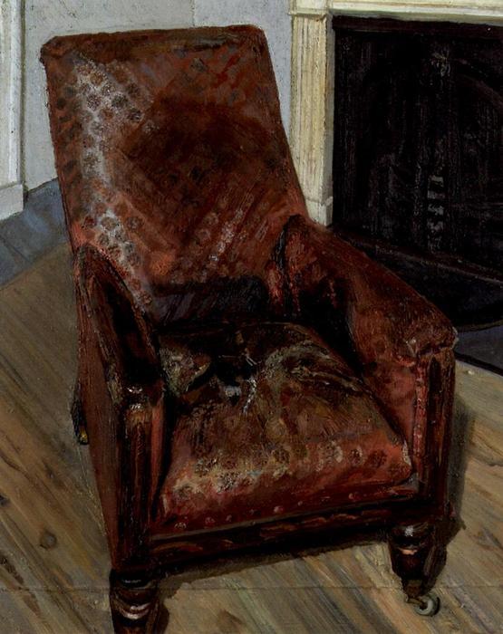 Poltrona dal camino, olio su tela di Lucian Freud (1922 2011, Germany)