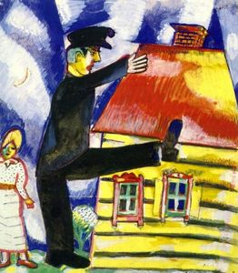 Marc Chagall - Marching