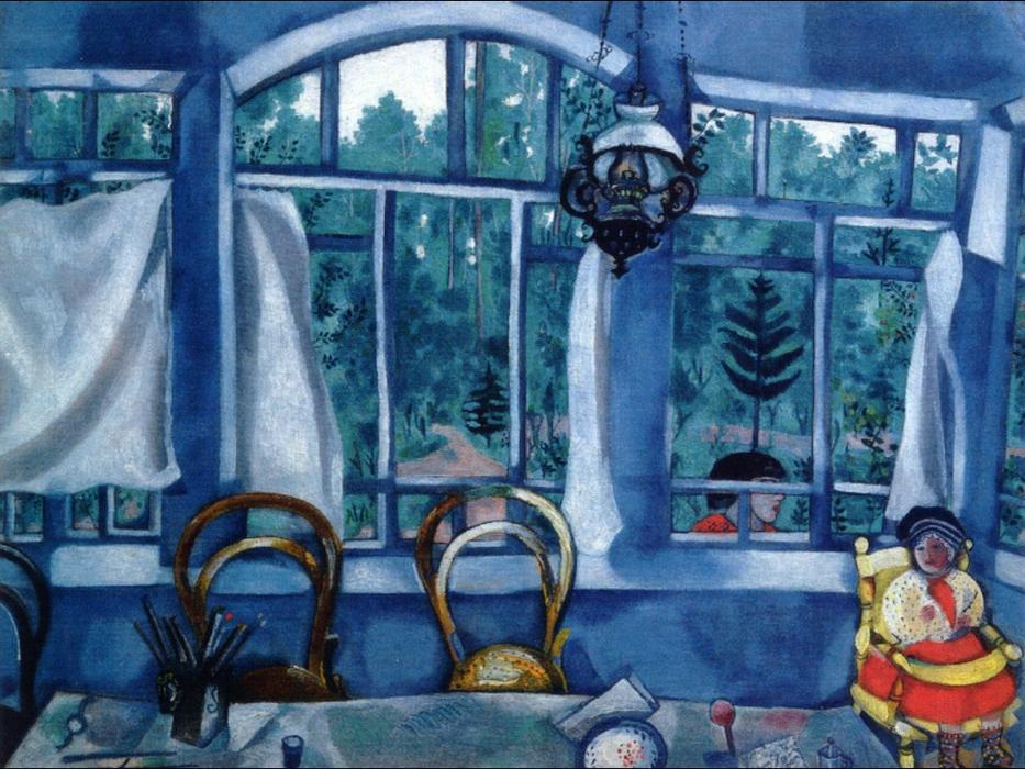 Finestra oltre a giardino tempera di marc chagall 1887 - La finestra sul giardino ...