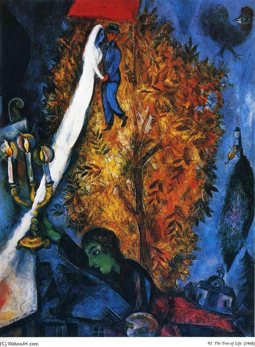 Il albero della vita olio su tela di marc chagall 1887 for Chagall tableau