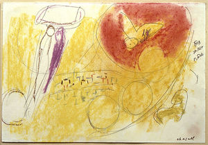 Marc Chagall - 'Study per ''Song di Canzoni III'''