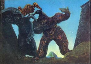 Max Ernst - Barbari Marching in Occidente