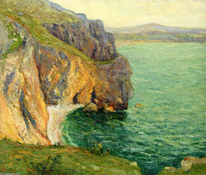 Maxime Emile Louis Maufra - The Cliffs at Polhor