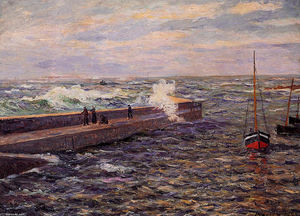 Maxime Emile Louis Maufra - The Jetty a Pontivy