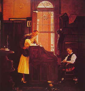 Norman Rockwell - Marriage License