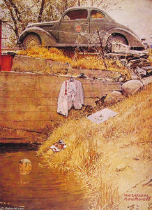Norman Rockwell - La Swimming Hole
