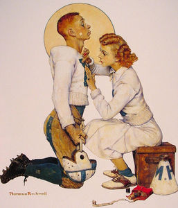 Norman Rockwell - Football Hero