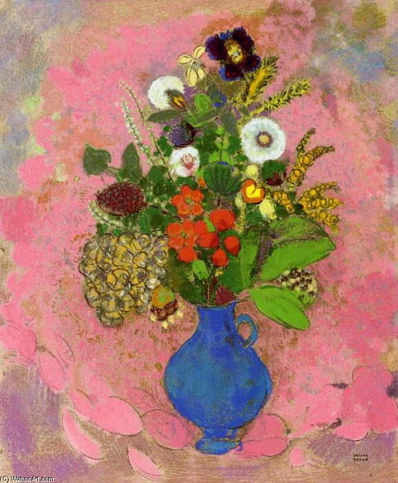 fiori di Odilon Redon (1840-1916, France) | Riproduzioni Di Quadri ...
