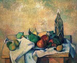 Paul Cezanne - Still vita , bottiglia of rum