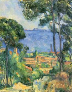Paul Cezanne - Veduta di L Estaque e Chateaux d If