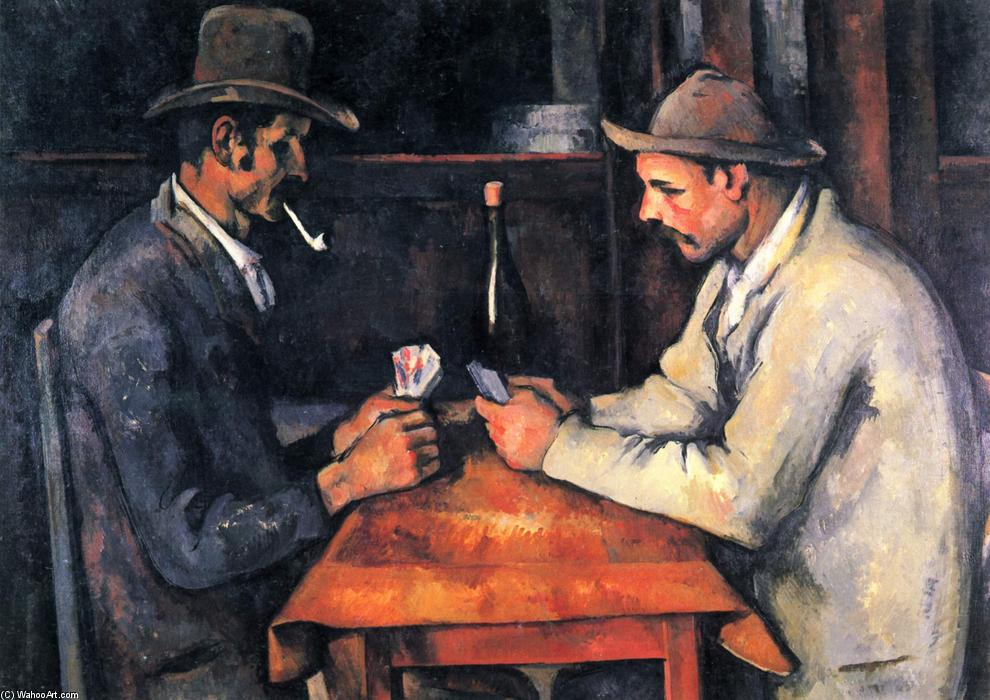 I giocatori di carte, olio su tela di Paul Cezanne (1839-1906, France)