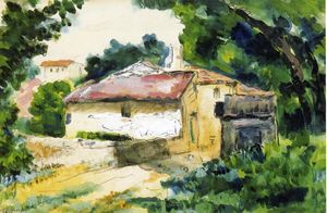 Paul Cezanne - casa in provenza