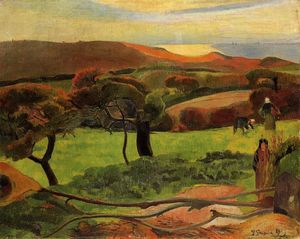 Paul Gauguin - Breton Landscape - Campi by the Sea (Le Pouldu)