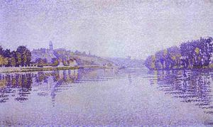 Paul Signac - River Edge Siene a Herblay
