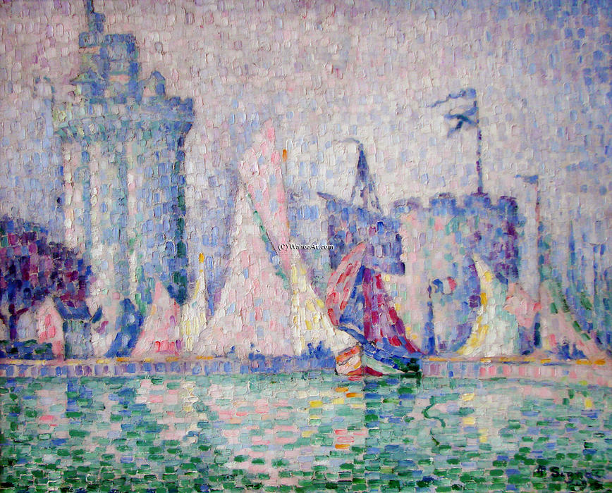 il porto di la rochelle 1915 di paul signac 1863 1935 france. Black Bedroom Furniture Sets. Home Design Ideas