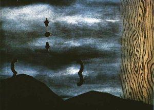 Il falso specchio olio su tela di rene magritte 1898 - Magritte uomo allo specchio ...