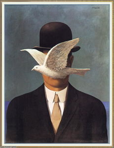 Rene Magritte - l-uomo in a `bowler` cappello