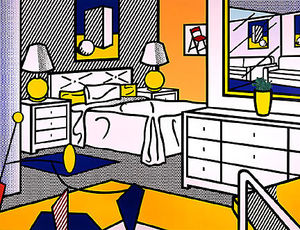 Roy Lichtenstein - interno con mobile