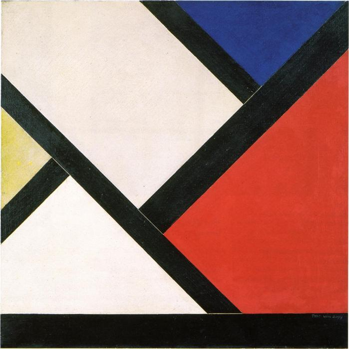 Composizione Contatore XIV, 1925 di Theo Van Doesburg (1883-1931, Netherlands) | WahooArt.com