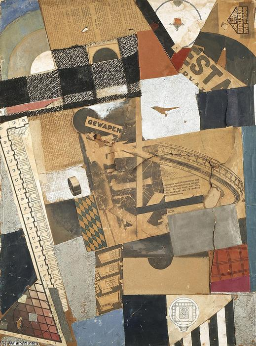 Il materiale snaturato. Distruzione 2., collage di Theo Van Doesburg (1883-1931, Netherlands)