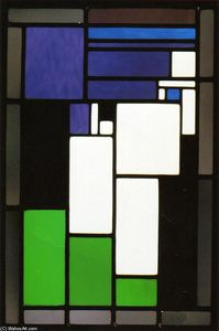 Theo Van Doesburg - Stained Composizione di vetro Donna