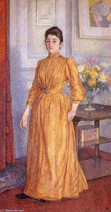 Theo Van Rysselberghe - Ritratto di Madame van Rysselberghe