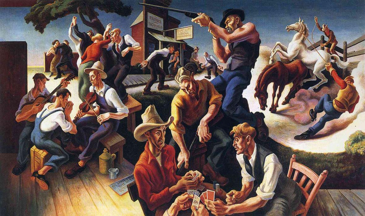 Benton (IL) United States  city pictures gallery : Arti del West', 1932 di Thomas Hart Benton 1889 1975, United States