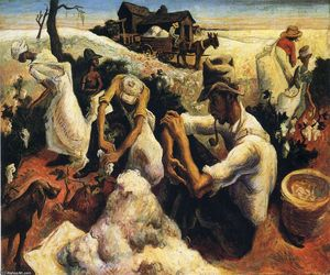 Thomas Hart Benton - Cotton Pickers Georgia