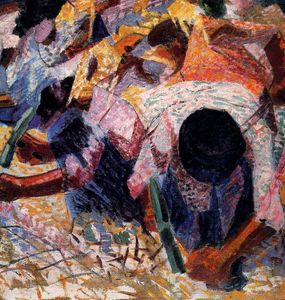 Umberto Boccioni - The Street Pavers
