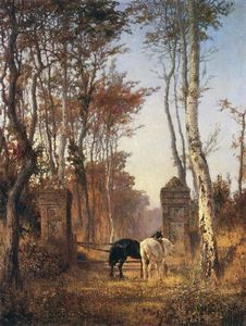 Vasily Dmitrievich Polenov - Old Gates. Normandia.