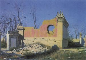 Vasily Vasilevich Vereshchagin - Rovine of un teatro in chuguchak