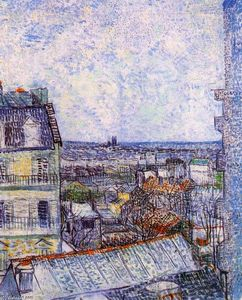Vincent Van Gogh - View from room di Vincent nella Rue Lepic