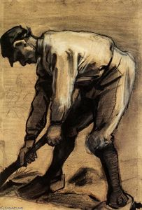Vincent Van Gogh - L uomo Breaking Up the Soil