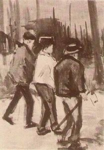 Vincent Van Gogh - Tre Woodcutters Walking