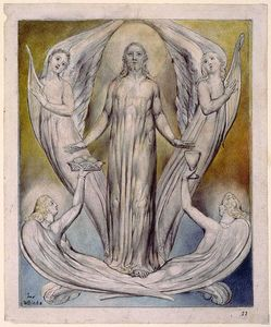 William Blake - Ministero Angeli a Cristo