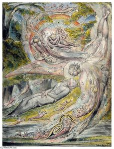 William Blake - Milton`s Misterioso sogno