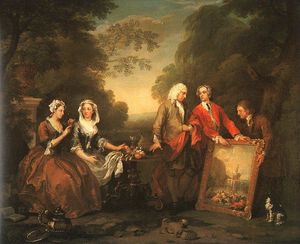 William Hogarth - La famiglia Fountaine