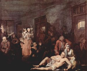 William Hogarth - La Madhouse