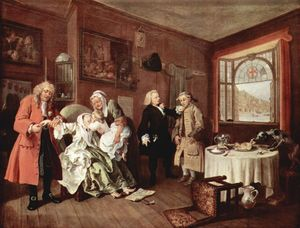 William Hogarth - Il suicidio della contessa