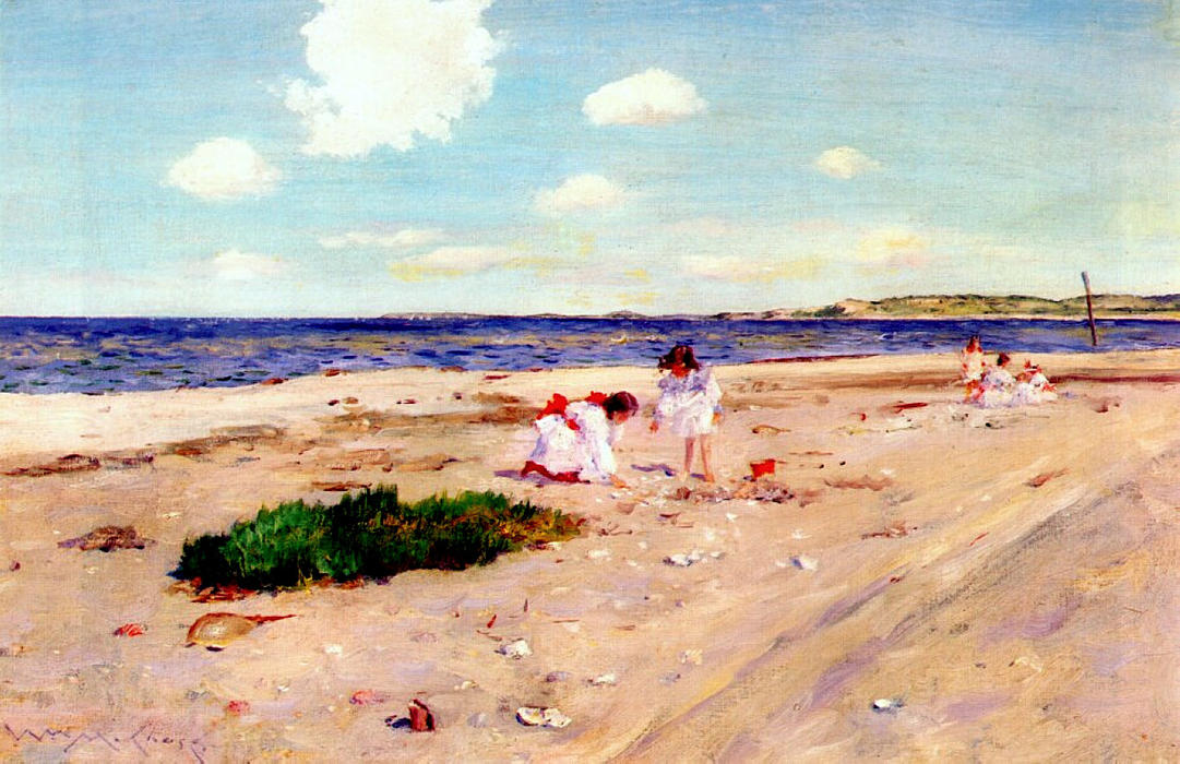 Shell Beach a Shinnecock, 1892 di William Merritt Chase (1849-1916, United States) | WahooArt.com