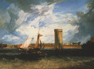 William Turner - Tabley, la sede di Sir JF Leicester Bt .: Windy Day