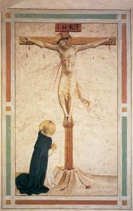Fra Angelico - Crucifixion con st Dominic ( Cellulare 17 )
