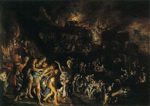 Adam Elsheimer - The Burning di Troia